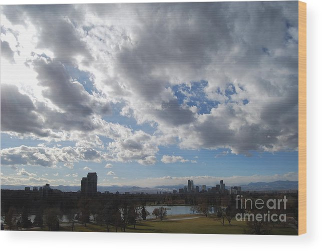 Denver Wood Print featuring the photograph The Denver Sky by Sarah Tate