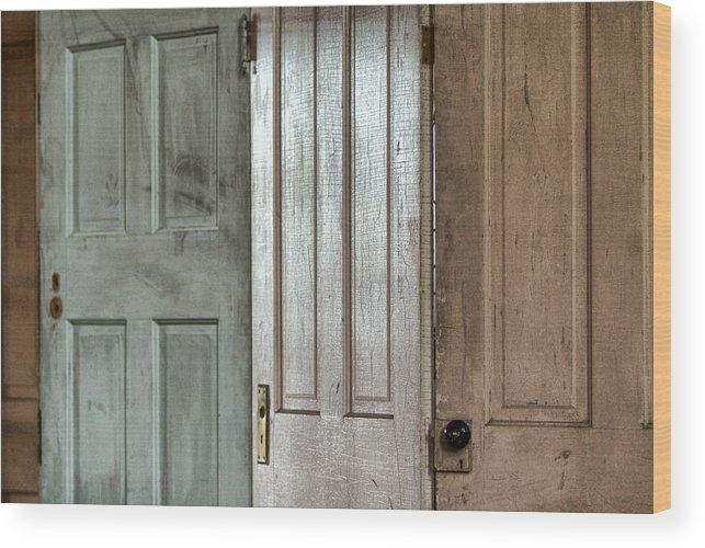 Doors Wood Print featuring the photograph The Doors by Michael McGowan