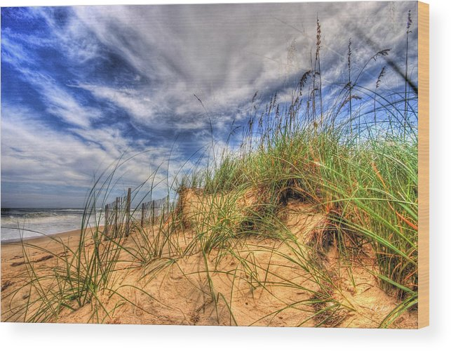 Water Wood Print featuring the photograph The Dunes by E R Smith