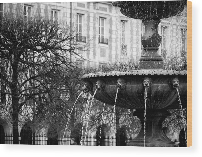 Fountain Wood Print featuring the photograph The Fountain by Cabral Stock