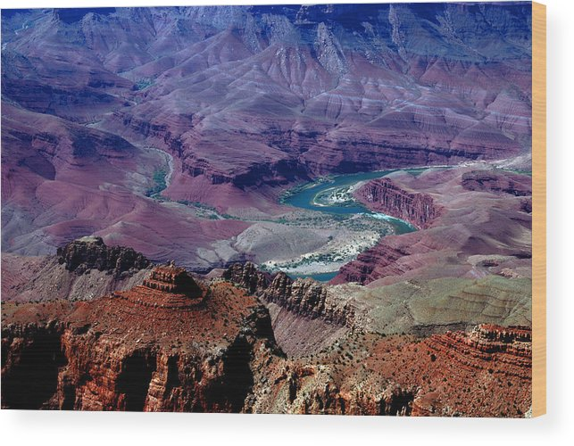 Photography Wood Print featuring the photograph The Grand Canyon by Susanne Van Hulst