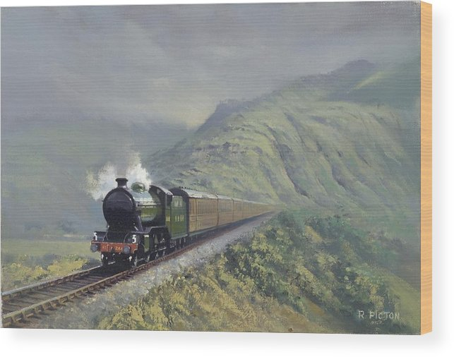 Steam Wood Print featuring the painting the Great Marquess by Richard Picton