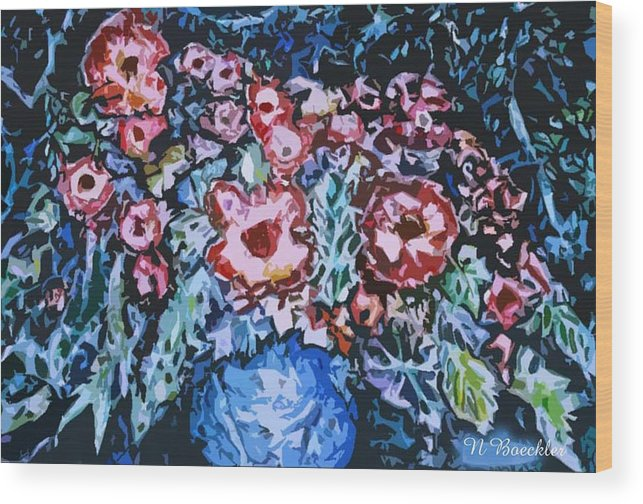 Mixed Media Wood Print featuring the painting The New Bouquet by Norma Boeckler