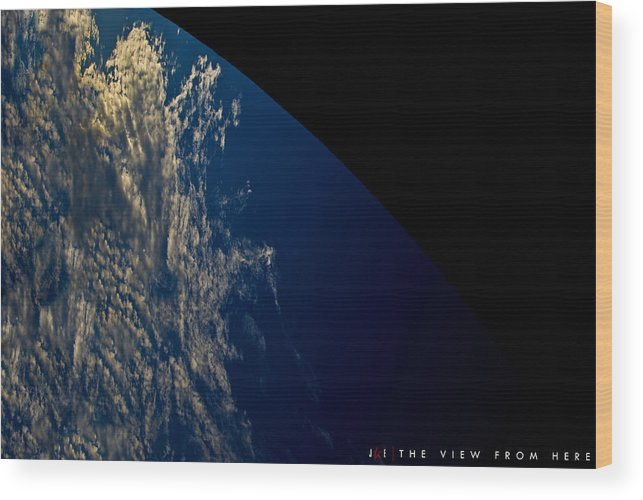 Earth Wood Print featuring the photograph The View From Here by Jonathan Ellis Keys