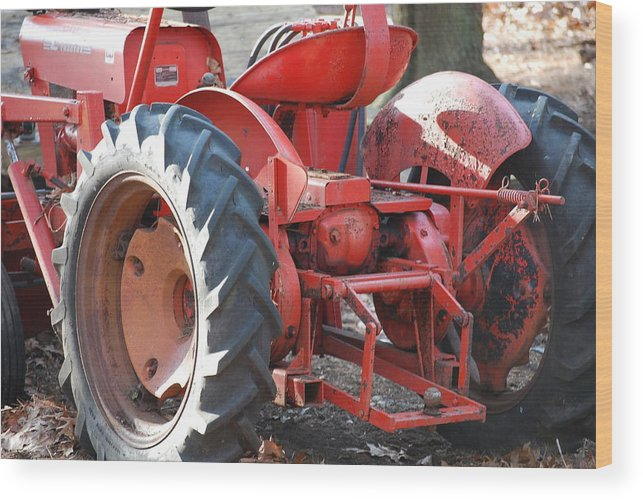 Tractor Wood Print featuring the photograph Tractor by Peter McIntosh
