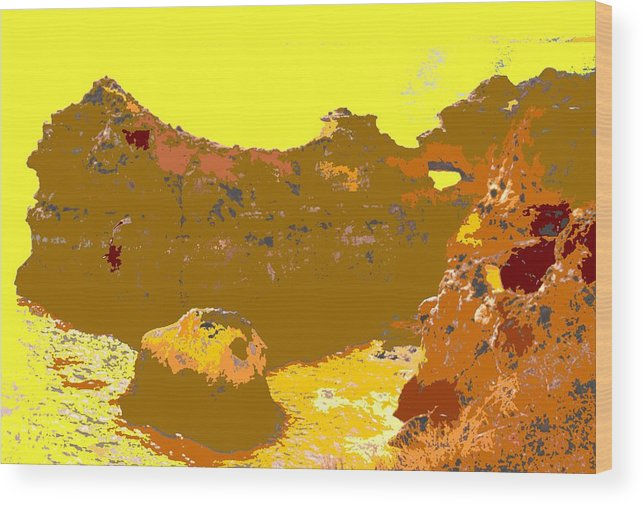 Mediterranean Wood Print featuring the photograph Under A Portugese Sun by Ian MacDonald