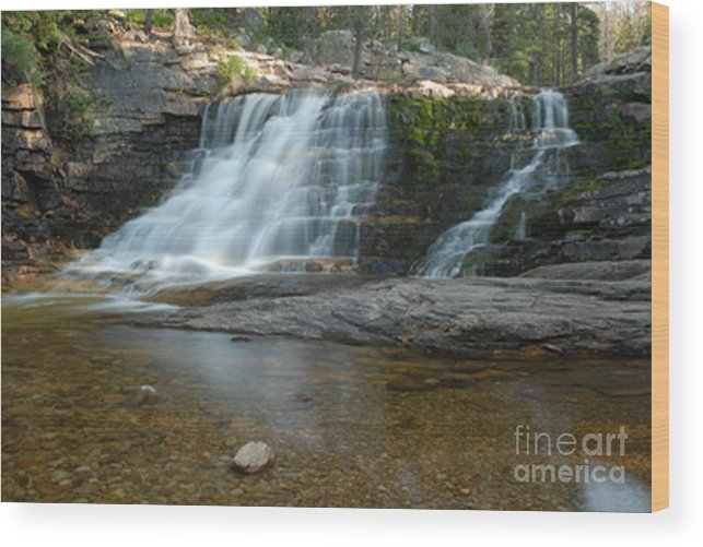 Waterfall Wood Print featuring the photograph Upper Provo River Falls by Dennis Hammer