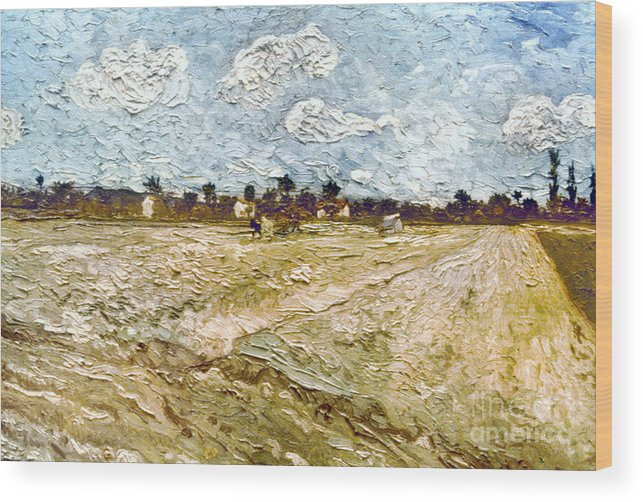 1888 Wood Print featuring the photograph Van Gogh: Fields, 1888 by Granger
