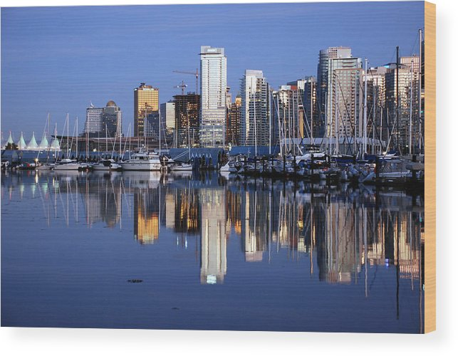 Vancouver Wood Print featuring the photograph Vancouver Skyline by Alasdair Turner