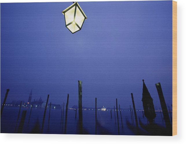 Blue Wood Print featuring the photograph Venice by Brad Rickerby