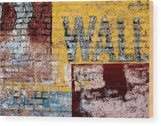Brick Wall Wood Print featuring the photograph Wall by Curtis Staiger