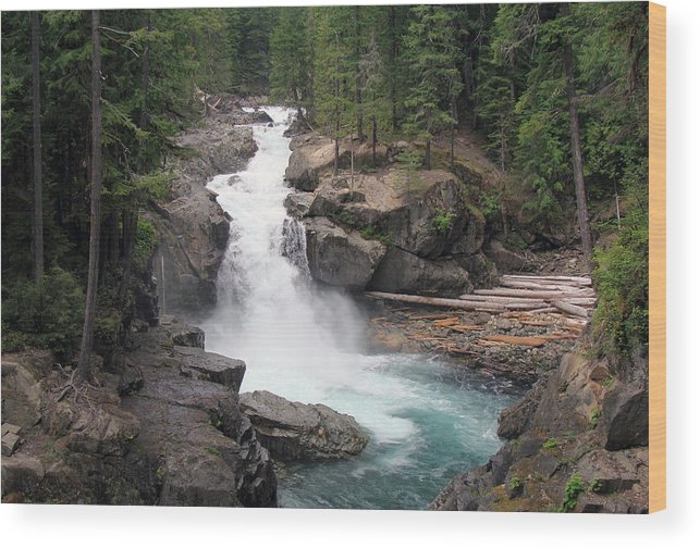 Waterfall Wood Print featuring the photograph Waterfall by Ty Nichols