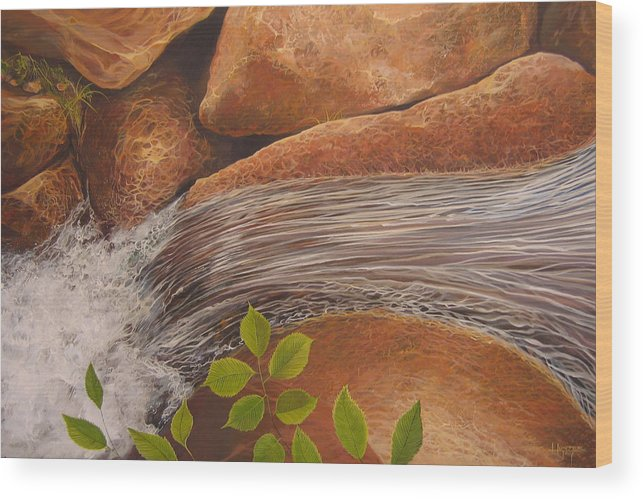 Water Wood Print featuring the painting Water's Edge by Hunter Jay