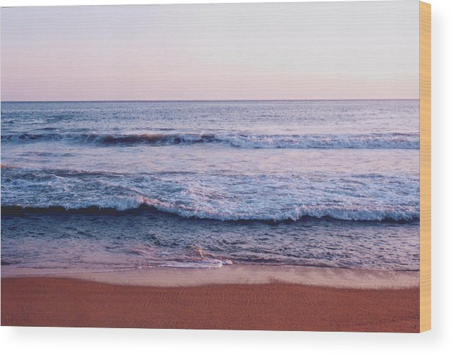 Waves. Surf Wood Print featuring the photograph Waves On The Beach 2 by Lyle Crump