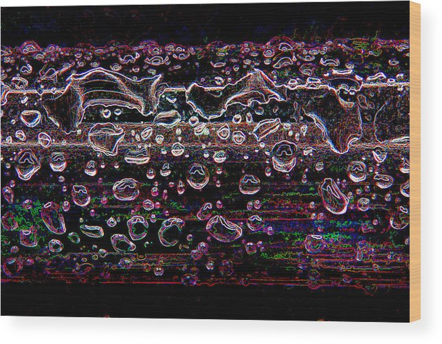 Digital Wood Print featuring the photograph Wet Steel Funky by Steve Somerville