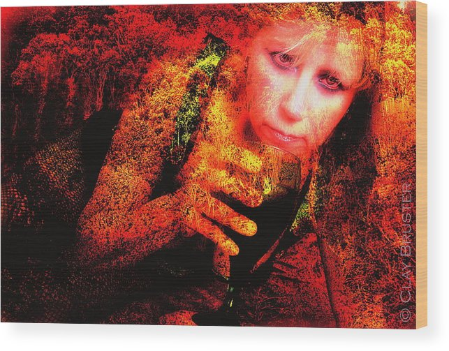 Clay Wood Print featuring the photograph Wine Woman And Fall Colors by Clayton Bruster