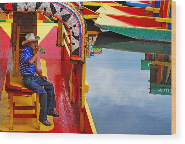 Skip Hunt Wood Print featuring the photograph Xochimilco by Skip Hunt