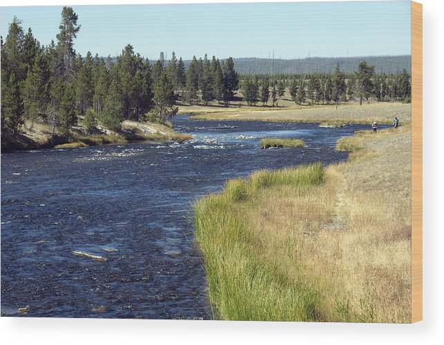 River Wood Print featuring the photograph Yellowstone Landscape by Charles Ridgway