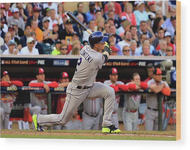 American League Baseball Wood Print featuring the photograph 85th Mlb All Star Game 11 by Rob Carr