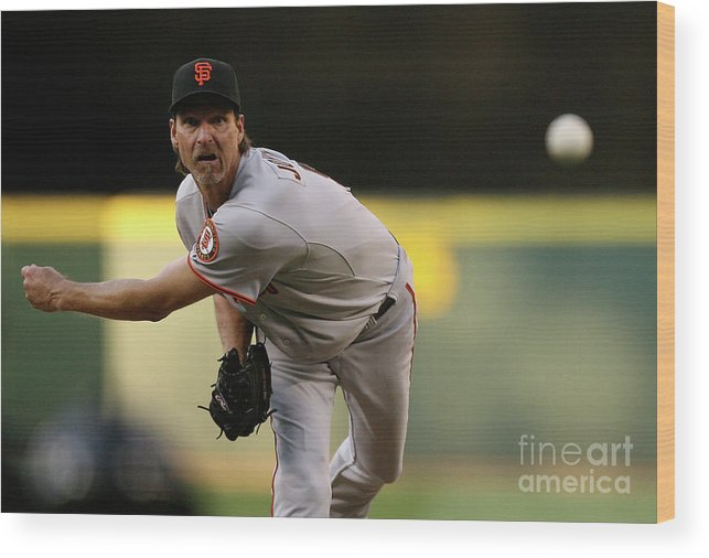 People Wood Print featuring the photograph San Francisco Giants V Seattle Mariners 3 by Otto Greule Jr