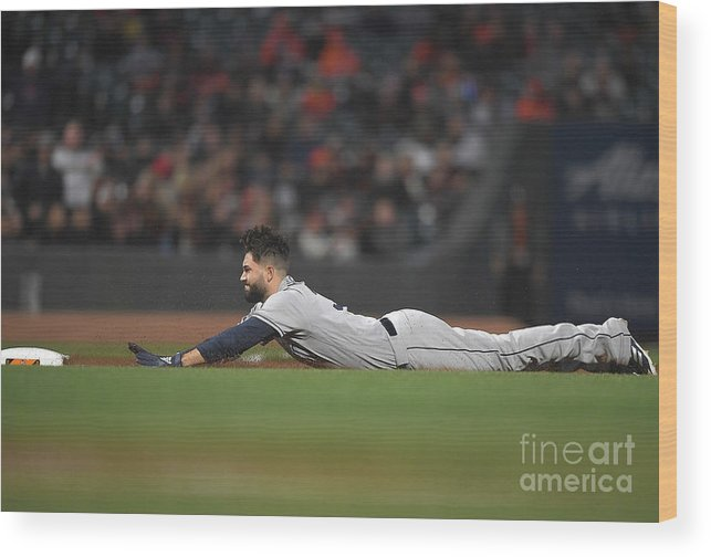 San Francisco Wood Print featuring the photograph San Diego Padres V San Francisco Giants by Thearon W. Henderson