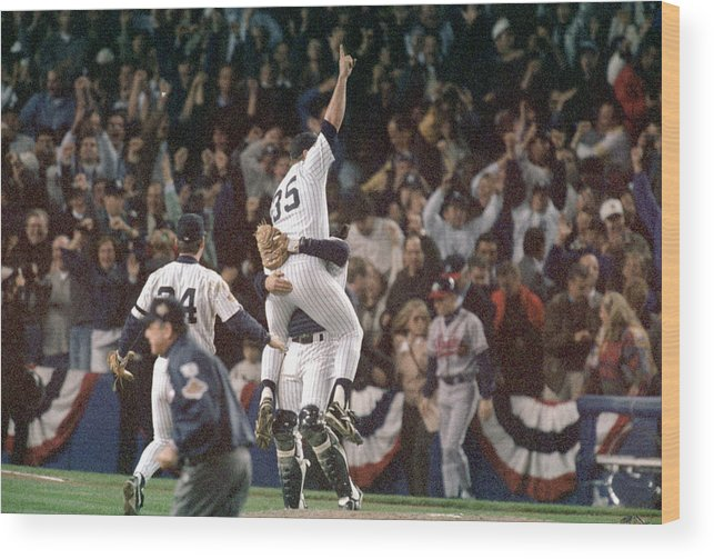 Celebration Wood Print featuring the photograph Atlanta Braves V New York Yankees by Al Bello
