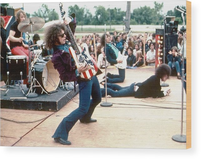 Rock Music Wood Print featuring the photograph Mc 5 Live In Mount Clemens by Leni Sinclair
