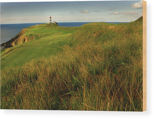 Scenics Wood Print featuring the photograph The Old Head Golf Links, Kinsale by E J Carr