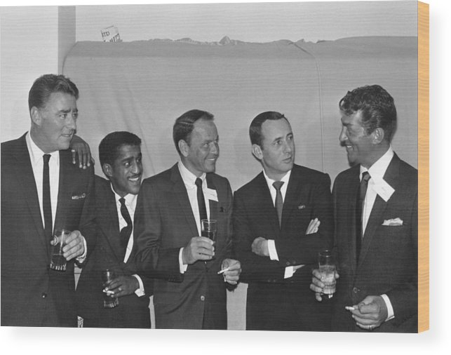 Singer Wood Print featuring the photograph The Usual Rat Pack by Jack Albin