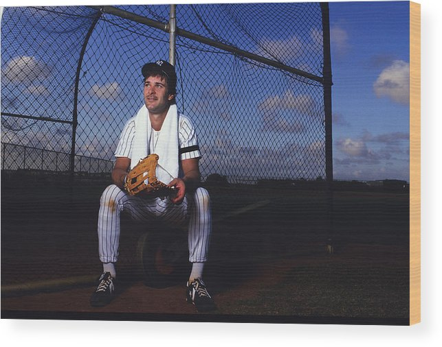1980-1989 Wood Print featuring the photograph Don Mattingly by Ronald C. Modra/sports Imagery