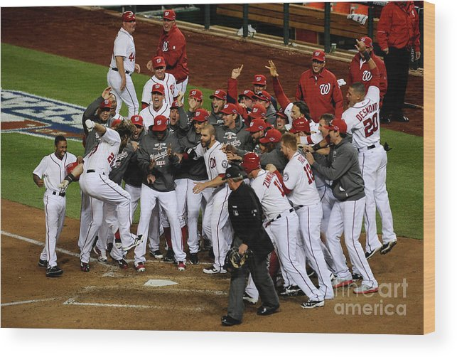 Playoffs Wood Print featuring the photograph Jayson Werth by Patrick Mcdermott