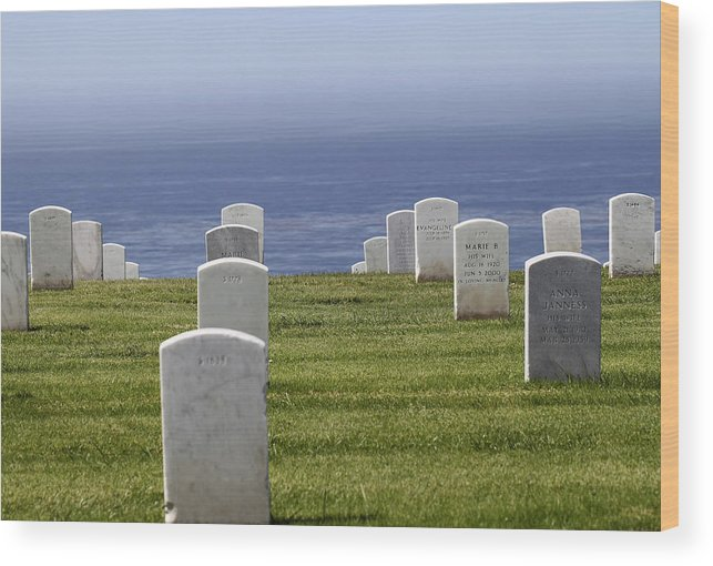 Military Cemetery Wood Print featuring the photograph Fort Rosecrans by Brad Maroney