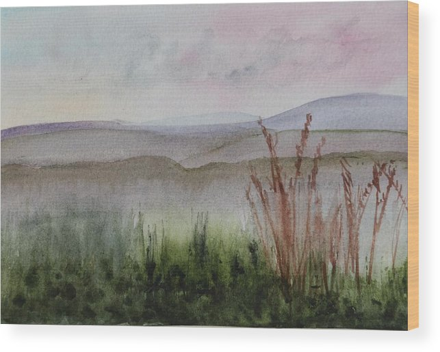 North East Kingdom Wood Print featuring the painting Misty Day In Nek by Donna Walsh