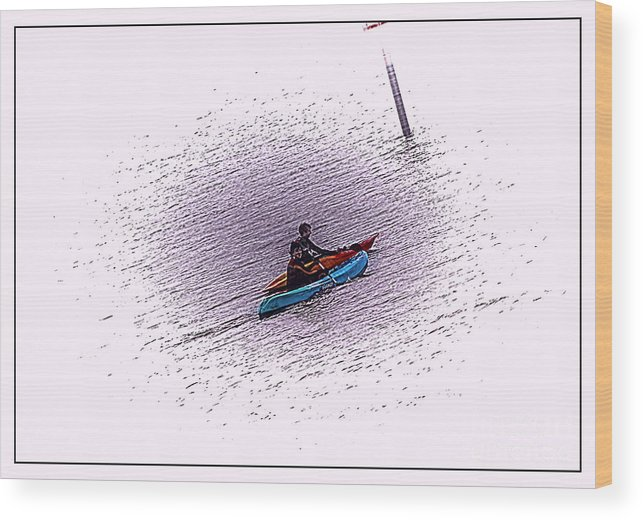Abstract Wood Print featuring the photograph Uphill Struggle by David Hollingworth