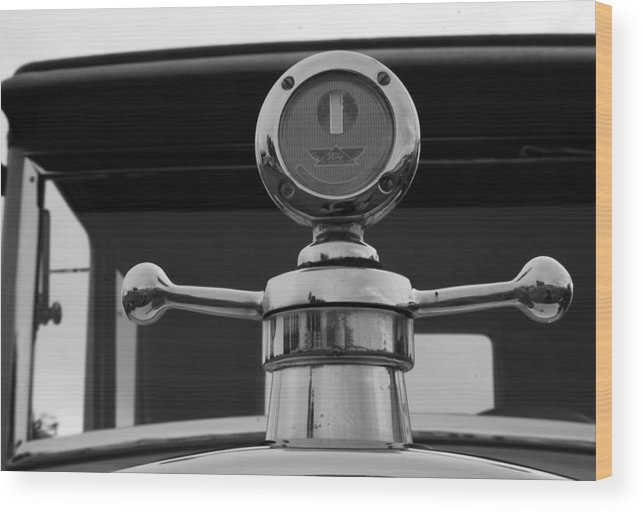 Hood Ornament Wood Print featuring the photograph 1926 Ford Model T Hood Ornament by DJ Monteleone