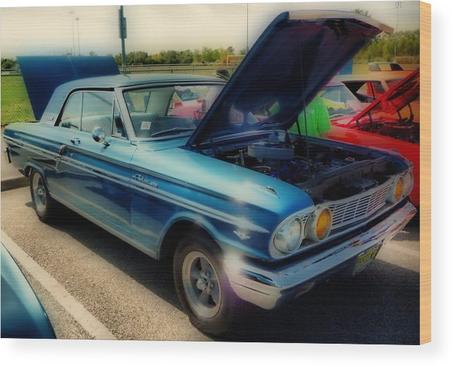 Hdr Wood Print featuring the photograph 289 Ford Fairlane 500 Hdr by Thomas MacPherson Jr