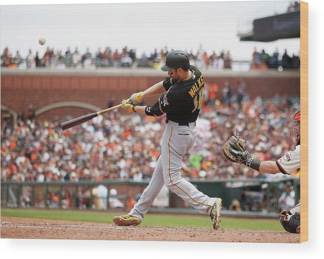 San Francisco Wood Print featuring the photograph Pittsburgh Pirates V San Francisco 5 by Ezra Shaw
