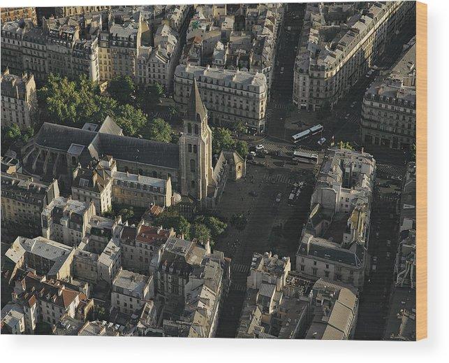 Abbey Of Saint German Des Pres 6th Arrondissement Paris France Wood Print