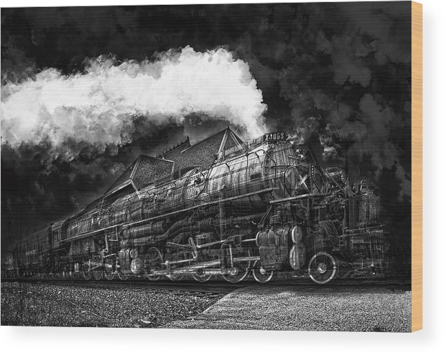 Train Wood Print featuring the photograph Anderson Depot by Stephen Hooker