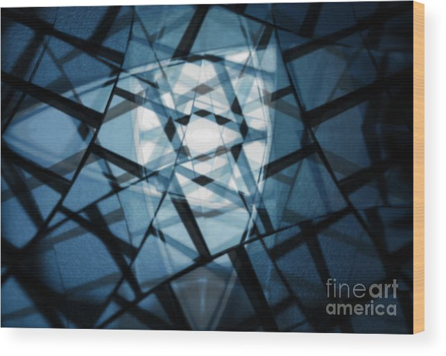 Blue Wood Print featuring the photograph Background Code by Tim Hester