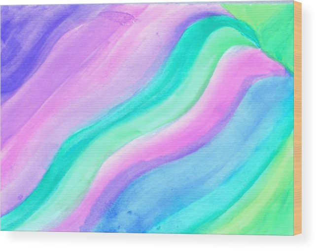 Abstract Wood Print featuring the photograph Blessing Flowing by Denise Warsalla