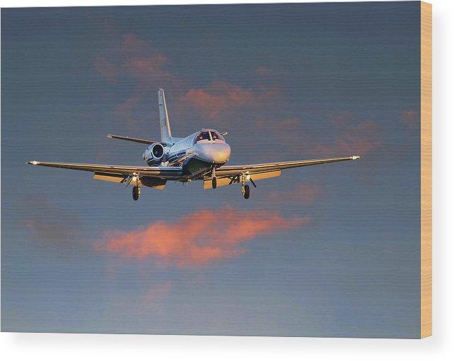 James David Phenicie Wood Print featuring the photograph Cessna Citation by James David Phenicie