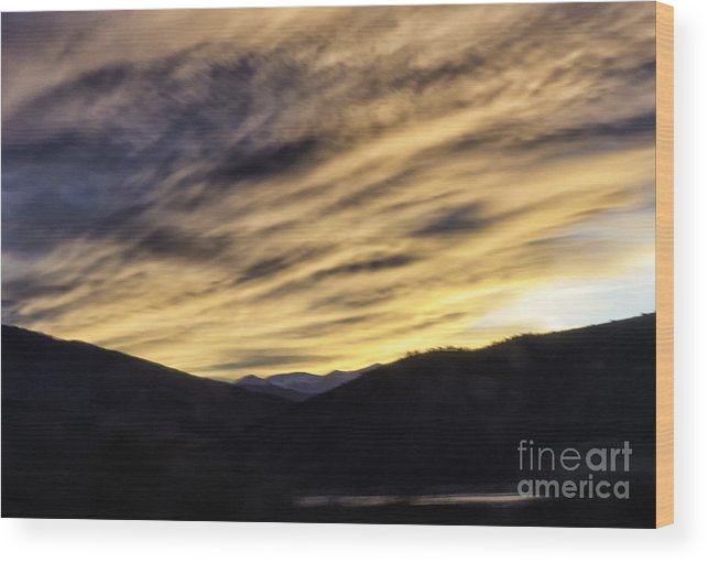 Sunset Wood Print featuring the photograph Color In The Sky by Carolyn Fox