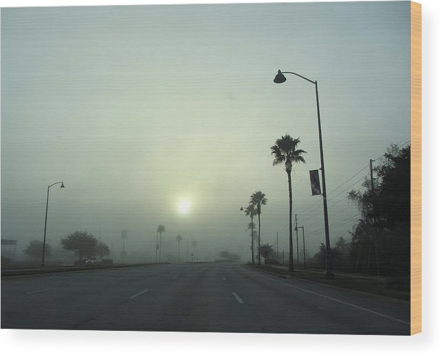 Photo Stream Wood Print featuring the photograph Fog by Jose Benegas