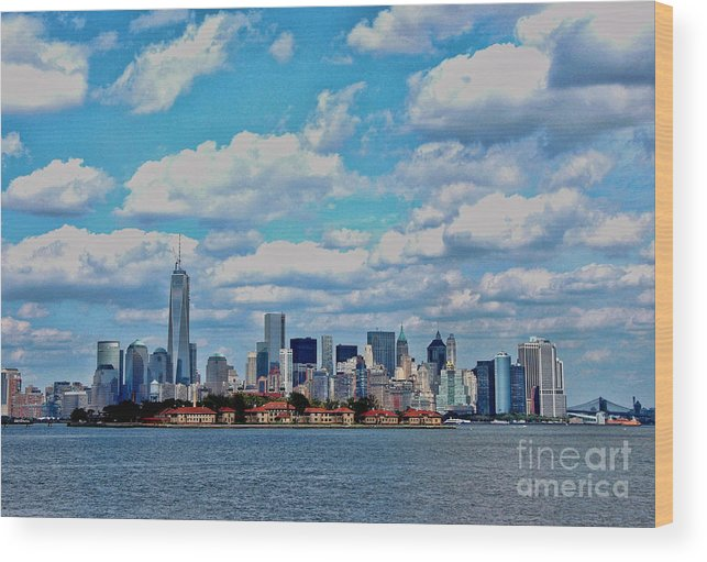 Freedom Tower Wood Print featuring the photograph Lower Manhattan by Allen Beatty