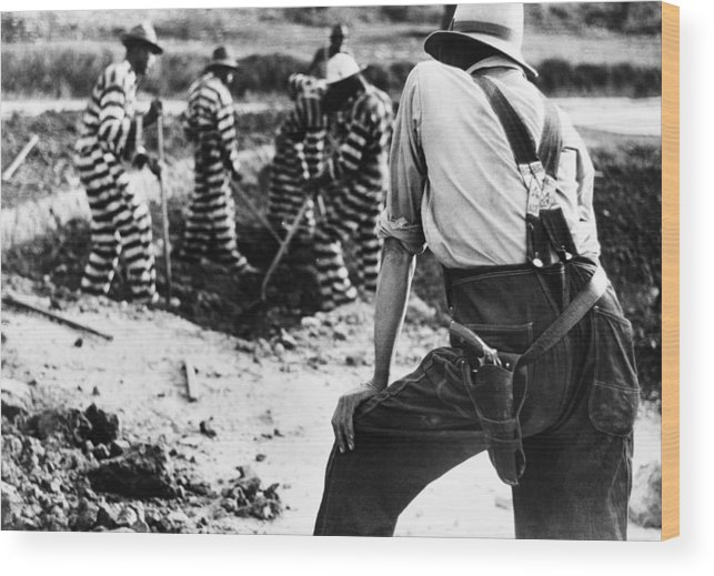1941 Wood Print featuring the photograph Georgia Prison Guard, 1941 by Granger