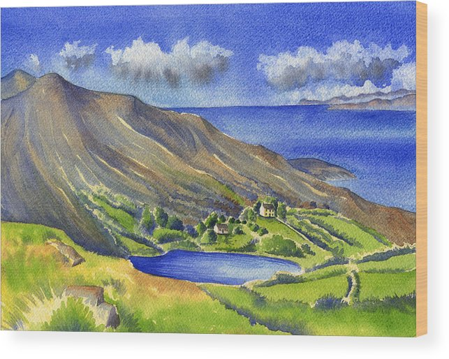 Sea Wood Print featuring the painting Glanlough by Kate Shannon
