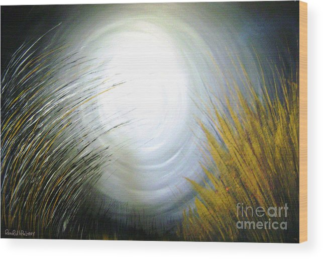 Light Wood Print featuring the painting Harvest by Roni Ruth Palmer