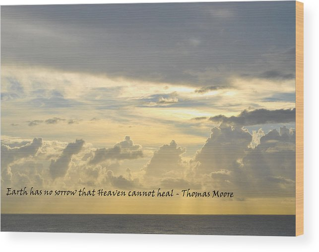 Sky Wood Print featuring the photograph Heaven by BandC Photography