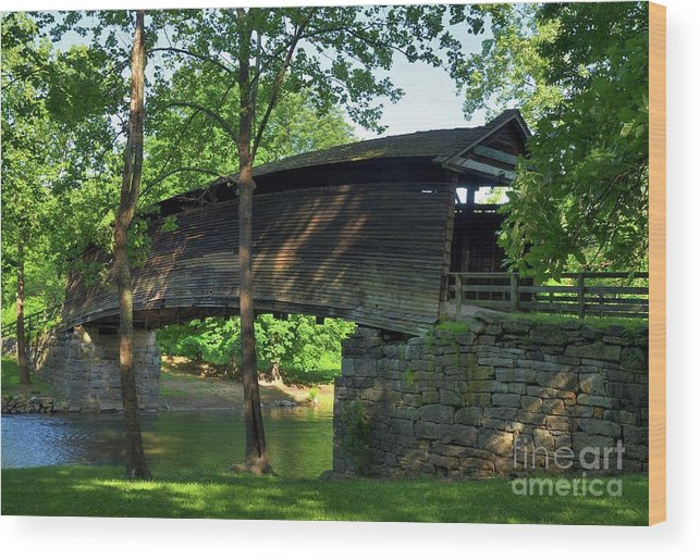 Covered Bridges Wood Print featuring the photograph Humpback Covered Bridge 2 by Mel Steinhauer